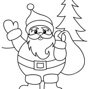 cute santa coloring pages cute santa claus coloring merry christmas happy new