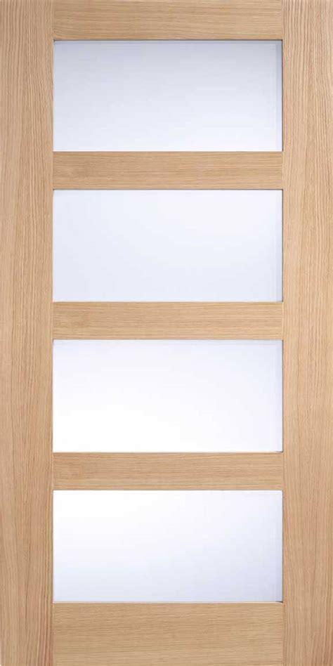 contemporary glass panel interior doors oak 4 light glass door