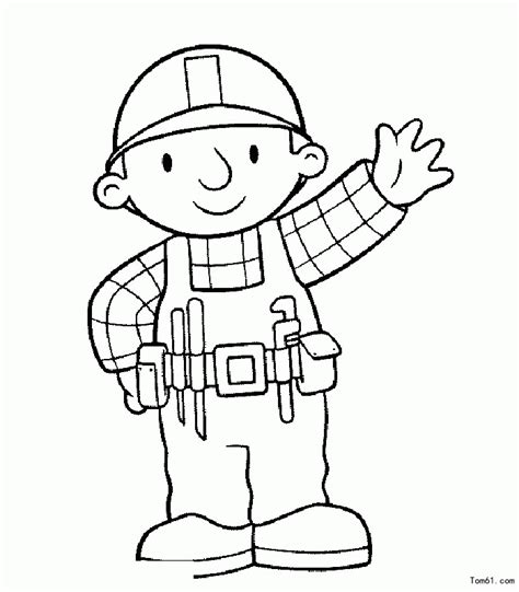 bob builder characters coloring home