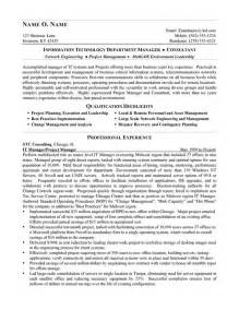 Sample Consultant Resume It Consultant Resume Example
