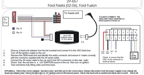 2002 2006 ford steering adapter schematic