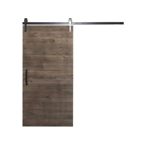 Sliding Barn Door Hardware Home Depot Rustica Hardware 42 In X 84 In Rustica Reclaimed Home Depot Gray Wood Barn Door With Arrow