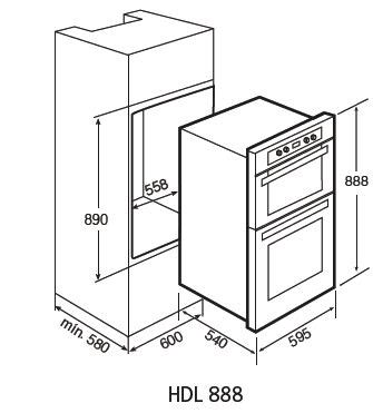 Standard Kitchen Cabinet Height teka hdl888 double oven