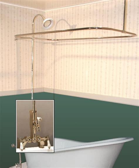 Turn Clawfoot Tub Into Shower clawfoot tub deckmount shower enclosure combo w leg tub