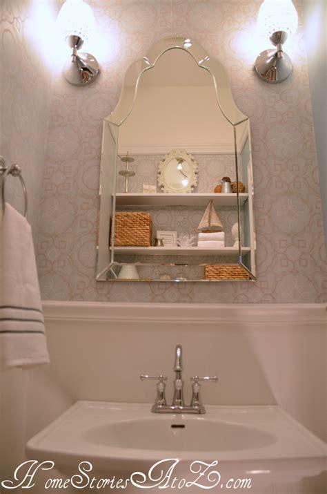 half bathtub half bath reveal powder room home stories a to z