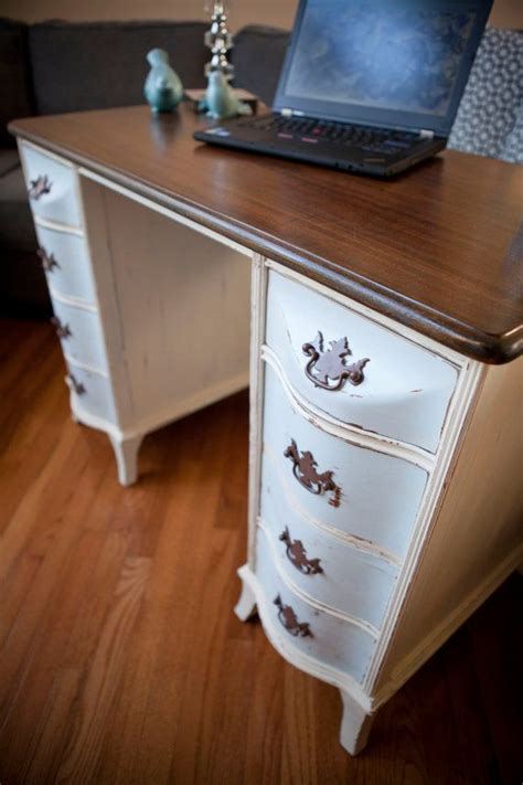 beautiful vintage shabby chic desk or foyer entry table