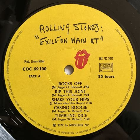 Cd Original Rolling Stones Exile On St exile on st by the rolling stones lp 180 220 gr x 2 with labelledoccasion ref 118933673