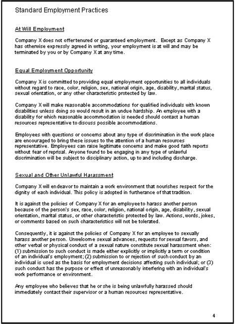 employee guidelines template employee handbook template vnzgames