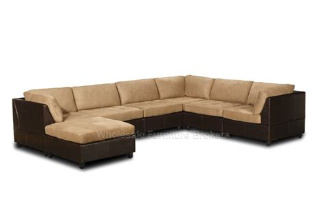 orange county saddle microfiber sectional sofa with