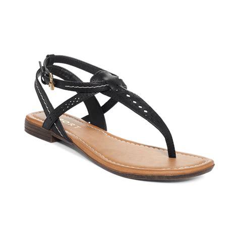 black sandals report kia flat thong sandals in black lyst