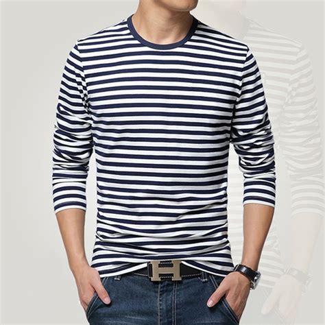 Gauniva Stripes Longsleeve Shirt Size Xxxl navy style sleeve shirt t shirt o neck stripe t