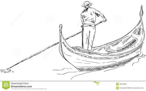 how to draw a gondola boat gondola stock image image 32943851