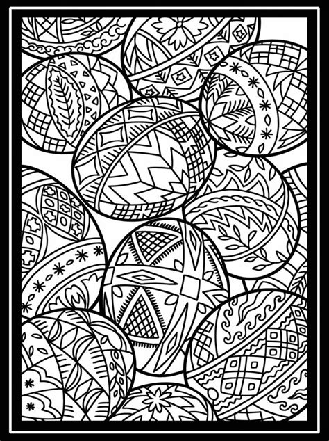 free easter stained glass coloring pages