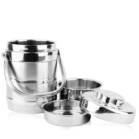 Stenlis Lunch Box Thermo Tunggal stainless steel food storage container thermos lunch box bowls food compartment containers rice