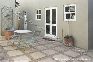 patio floor square pavers and gravel patio flooring