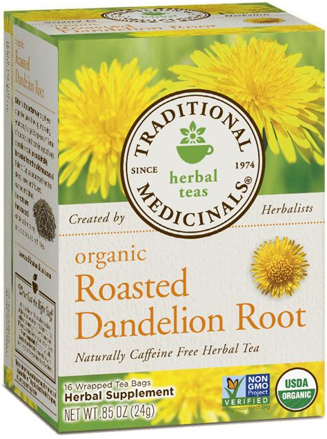 Roasted Dandelion Root Tea Detox by Roasted Dandelion Root Traditional Medicinals