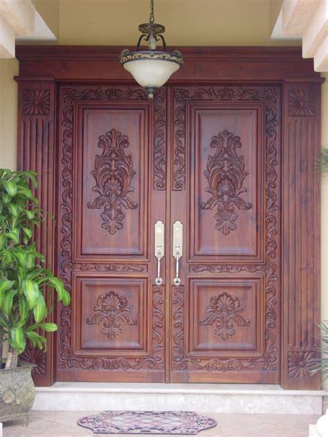 mahogany entry door  hand carved  ft mahogany