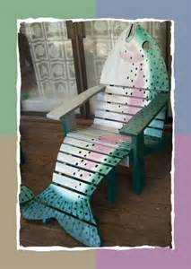 Outdoor Wooden Chair Plans Free by Adirondack Fish Chairs On Pinterest Adirondack Chairs