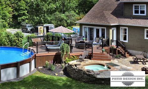 veranda terrasse terrasse en trex swimming pool decks terrasse
