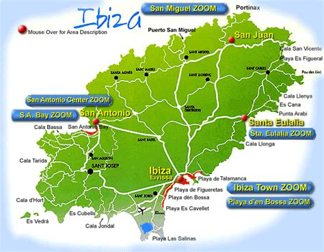 san jose map ibiza ibiza map maps of ibiza island san antonio santa eulalia