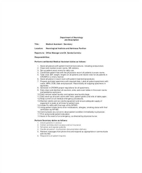 5 neurologist job descriptions in pdf free premium