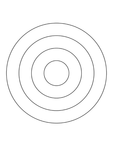 4 Concentric Circles Clipart Etc Concentric Circles Template