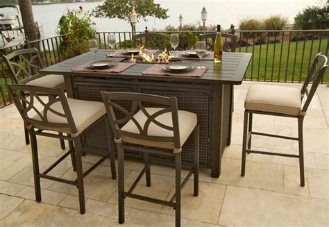 bar height patio table with pit bar height patio table with pit creepingthyme info