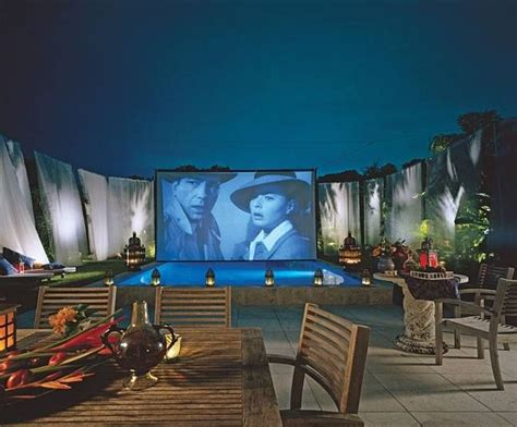 backyard home theater backyard pool theatre home decor