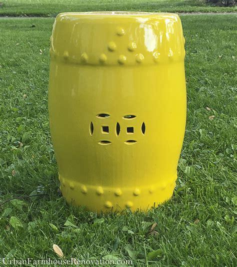 yellow garden stool yellow garden stool farmhouse renovation