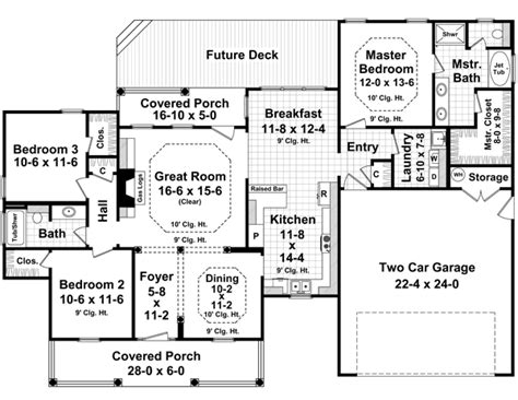 1700 sq ft house plans country style house plans 1700 square foot home 1 story 3 bedroom and 2 bath 2