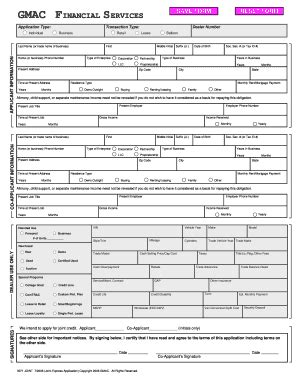 Ally Credit Application Form Pdf ally application fill printable fillable blank pdffiller