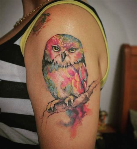 watercolor tattoos explained best 25 watercolor owl tattoos ideas on