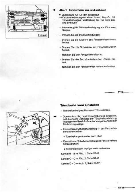 Fenster Nachstellen Anleitung by Audicabrio Info T 252 Rseitenscheiben Einstellen