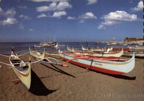 fishing boat philippines basnig fishing boats on beach batangas philippines southeast asia