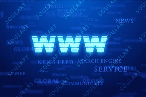 abbreviation for background world wide web abbreviation on blue background by