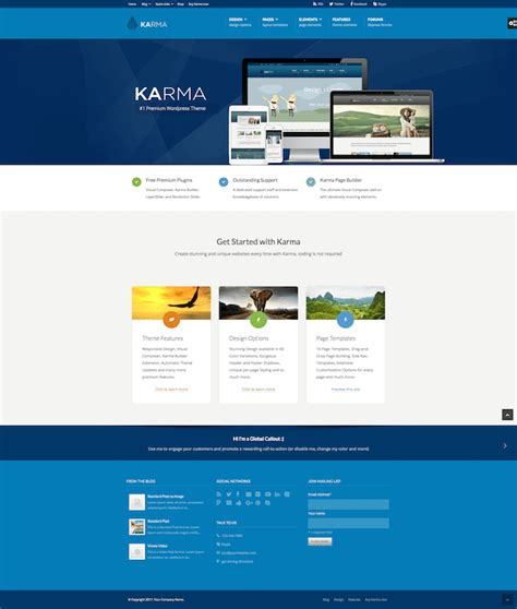 themes wordpress karma 20 best small business wordpress themes for 2018