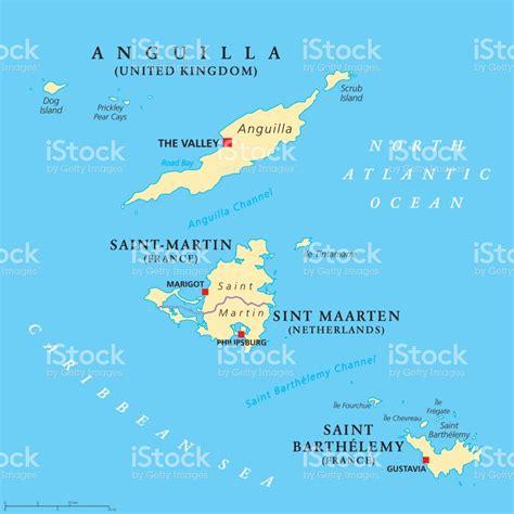 st map anguilla saintmartin sint maarten and barthelemy map