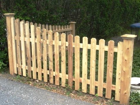 wood picket fence sections tapered wood picket fence section wood fence pinterest