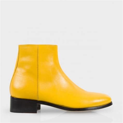 paul smith s yellow buffalino leather ollis boots in