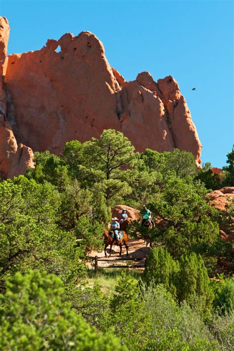 Garden Of The Gods On Horseback Horseback In Garden Of The Gods With Academy