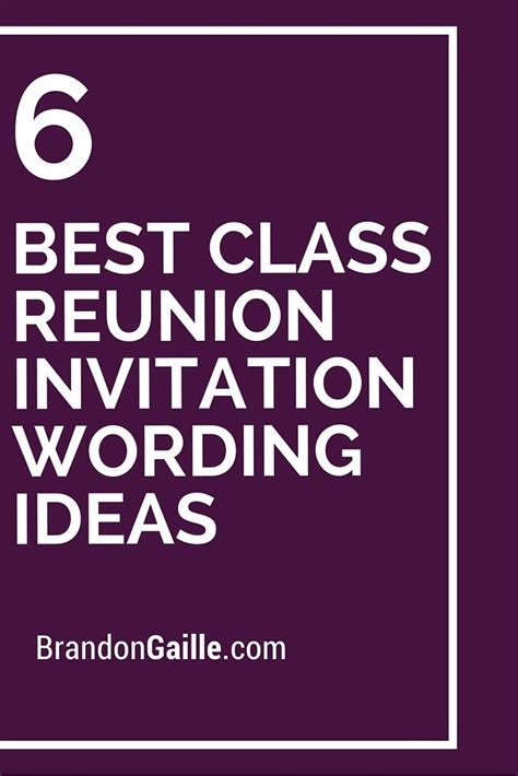 6 best class reunion invitation wording ideas class