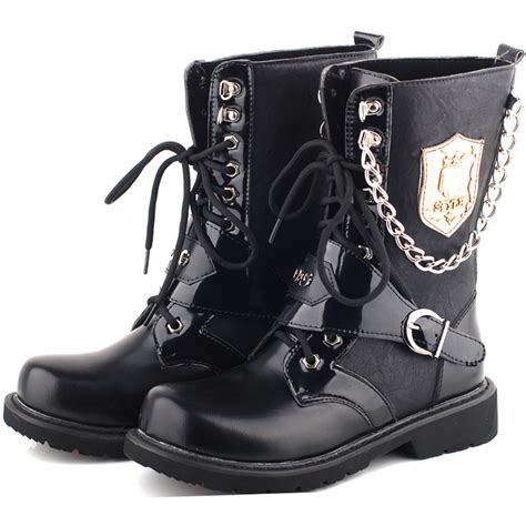 mens fashion boots black combat boots fashion yu boots