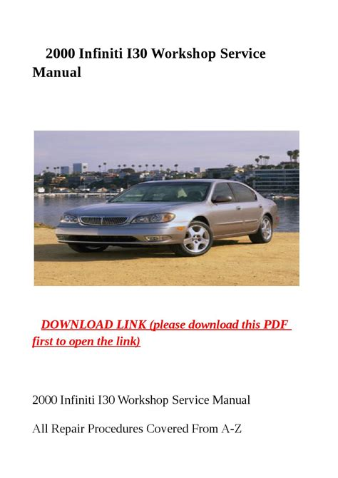 free online auto service manuals 1998 infiniti i electronic throttle control service manual free 2000 infiniti i online manual infiniti st 950 others download manual for
