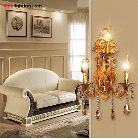 living room wall sconce fashion 3 ls crystal wall l candle double slider