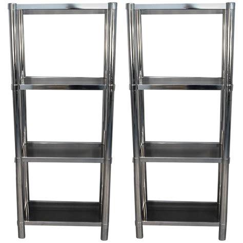 Smoked Glass Shelf by Chrome Tubular 201 Tager 233 With Smoked Glass Shelves For Sale At 1stdibs