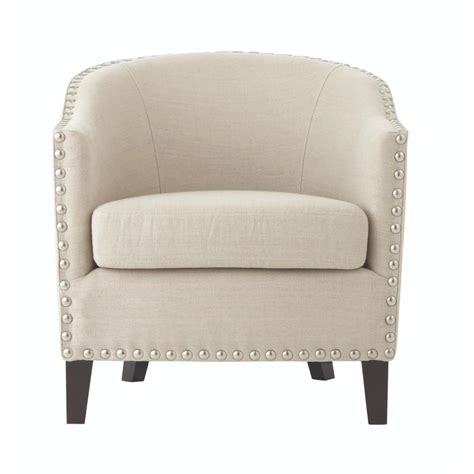 oatmeal linen wingback chair home decorators collection linen oatmeal wing back