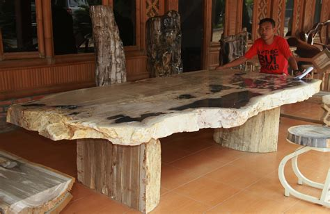 wooden extendable table with granite in lays for sale in petrified stone youtube
