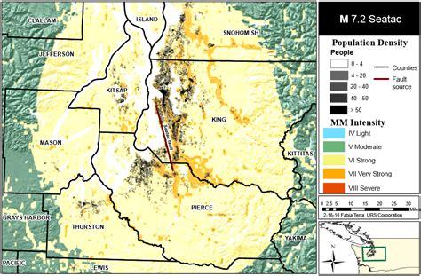 earthquake washington state earthquake fault maps in seattle and washington state