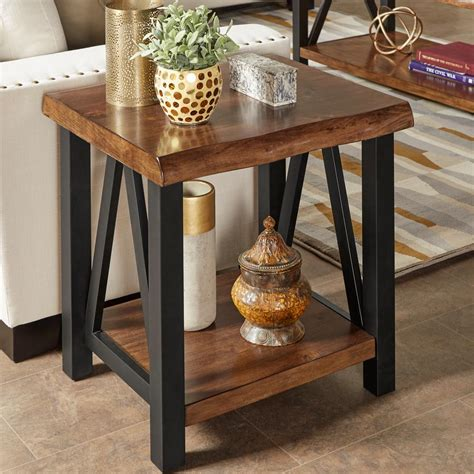 homesullivan barnard brown live edge end table 40e526 04