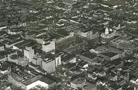 aerial view of the central park area of mansfield ohio